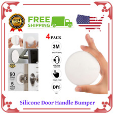4Pcs Stopper & Bumper for Door Handle Wall Protector Larger Silicone Stick 3.15""