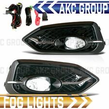 Cobra Tek For 2014-2015 Honda Civic Coupe Clear Lens Chrome Housing Fog Lights