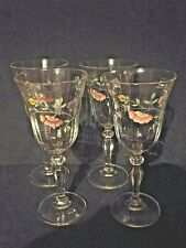 VINTAGE JOHNSON BROTHERS SUMMER CHINTZ SET OF 4 TULIP WINE GLASSES