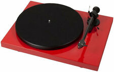 PRO-JECT DEBUT CARBON DC RECORD PLAYER RED WITH NEEDLE ORTOFON 2M RED