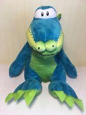 "Publix Plush Plato Publixaurus Dinosaur Large 15"" Stuffed Toy Green Blue Sitting"
