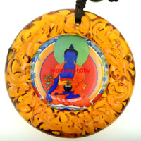Buddha Pendant  Medicine Statue Necklace Amulet  Blessed Glass Buy 2 Get 1