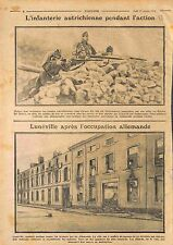 Austria Infantry Battle Imperial Russian Army/Ruines Lunéville France WWI 1914