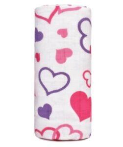 BNWT T-Tomi Big Bamboo Towel Free P&P 120cm x 120cm Hearts Holiday Fun Bathtime