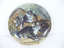 "Knowles 1987 Kittens Gone Fishing : Maine Coons by Amy Brackenbury 8-1/2"" plate"