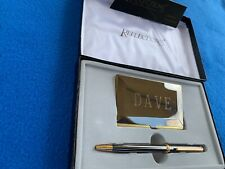 Reflections Fine Writing Instruments Pen/Card Set Gunmetal NOS in Box - Engraved