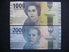 INDONESIA  1000 + 2000 Rupiah 2016  (Pnew)  UNC