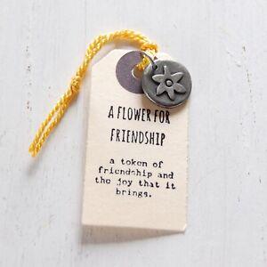 Kutuu Pewter Charm - Flower Friendship