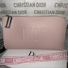 BRAND NEW 100% GENUINE RARE DIOR PINK MAKEUP COSMETIC POUCH CLUTCH BAG TRAVEL