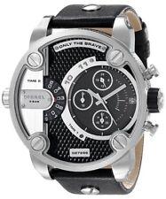 Diesel Little Daddy Chronograph Dual Time Black Dial DZ7256 Mens Watch