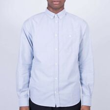 Norse Projects Anton Oxford Stripe Blue Men's Casual Shirt Size Small