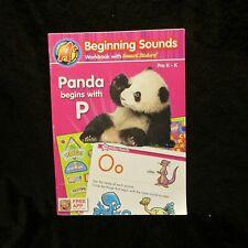 A+ Beginning Sounds Workbook with Reward Stickers Pre K-K