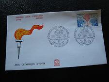 ANDORRE (francais) - enveloppe 1er jour 18/2/1984 (jo sarajevo) (cy63) andorra(Y