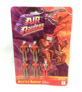 Old Vintage 90's Retro 1987 AIR RAIDERS Carded Toy figures, Sealed Ex shop stock