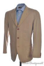 HOUSE OF BIJAN Beige Striped Cotton Blazer Sport Coat Jacket - EU 52 / US 42 R