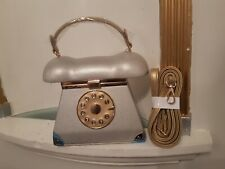 Ladies Handbag. Telephone. Dial. Mirror. Silver. Make that call. Fast Delivery.