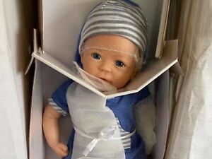 "Partial SILICONE DOLL CALEB 18""  NEW IN BOX (Ashton Drake)"