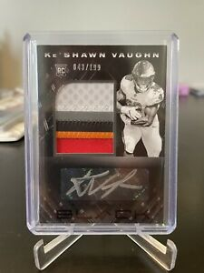2020 Black Ke'Shawn Vaughn Rookie Patch Auto /199 RC RPA 230 T1 Combined Ship!