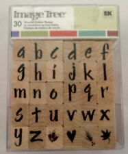 Image Tree Alphabet Letters  Wooden Rubber Stamp