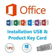 Microsoft Office 2019 Professional Plus - USB & Product Key Included - Lifetime
