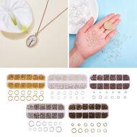 1 Box Round Iron Jump Rings für Schmuckherstellung Halskette Reparaturen