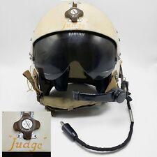 """JUDGE"" Vietnam 1962 US Army APH-5 Flight Helicopter Pilot Helmet Tinted Visor"