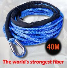 Dyneema SK75 Synthetic Winch Rope, Cable 10mm x 40m for 4WD, 4x4, Boat Offroad