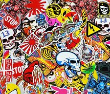 Superb Job Lot 10 Vinyl Stickers/Decals Skulls etc Skateboards/BMX/Laptops/Cases