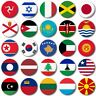 "WORLD FLAGS Various 25mm, 1"" Button Badge, I to M"
