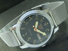 VINTAGE ARABIC UNUSED SEIKO 5 AUTOMATIC JAPAN MENS DAY/DATE WATCH 450k-a226722-4