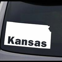 3 Pack Kansas State Map KS Home State Permanent Vinyl Decal Bumper Sticker