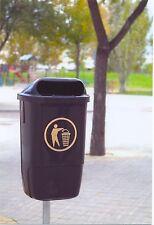 Outdoor déchets/litière bin 5 x Patrimoine POSTE 50 L monté litière bin NEUF