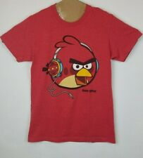 Fifth Sun Men's Tee Angry Bird Headphones Red T-Shirt Size Small