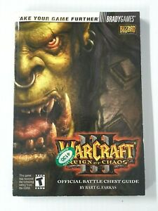 Warcraft III Reign Of Chaos Official Battle Chest Guide Brady Games Blizzard