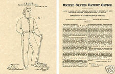 Levi Strauss US PATENT for DENIM JEANS Art Print READY TO FRAME!!!! 1873 Miner