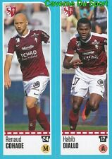 436-437 RENAUD COHADE - HABIB DIALLO FC.METZ STICKER FOOT 2017 PANINI