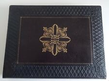 French Antique Leather Bound Lady's Stationary/ Storage Box - Boxes