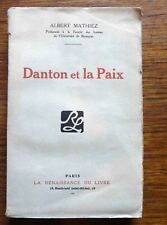 Révolution Française DANTON ET LA PAIX 1919  Rare