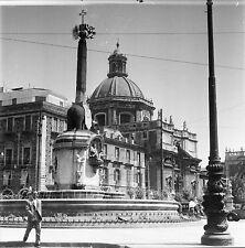 CATANE c. 1950 - Place du Dôme Sicile Italie - Négatif 6 x 6 - ITAL 61