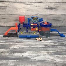 Hot Wheels Color Change Mega Car Wash Play Set Kids Fun Play Toy EUC