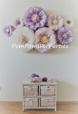 8 mixed size Giant blooms Ash pink Dusty pink Vintage party centerpiece