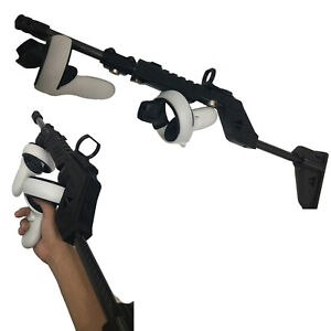 Professional VR Shooting Game Gun Stock For Oculus Quest 2 VR Touch Controllers