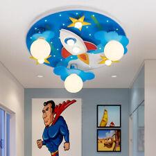 Modern Acrylic Rocket Star Led Ceiling Lights Children's Room Flush Mount Lamp