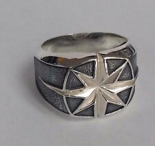 David Yurman Men`s Sterling Silver Maritime North Star Ring, Men' Accesories,