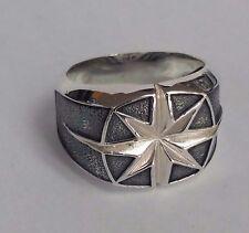 David Yurman Men`s Sterling Silver Maritime North Star Ring, Men' Accesories,