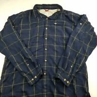 The North Face Men's Blue Check Long Sleeve Button Down Shirt Size Large
