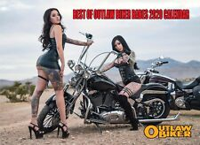 """2020 """"BEST OF OUTLAW BIKER BABES"""" 12 MONTH CALENDAR - A $10 Value For ONLY $5.99"""