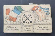 CGT FRENCHLINE Carnet complet de 30 CPA Saint-Nazaire Bordeaux Cuba Méxique
