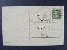 North Branch New Jersey NJ 1909 Type 3/4 Doane Cancel DPO 1905-1966 Postcard