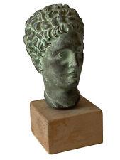 Sculpture Tête D'après l'Antique Personnage Masculin Grèce Plâtre Patiné XX ème